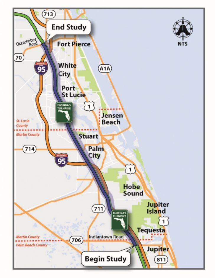 Florida Map With Port St Lucie