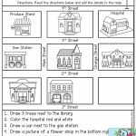 Follow Directions  Read The Directions And Add The Details To The   Free Printable Direction Maps