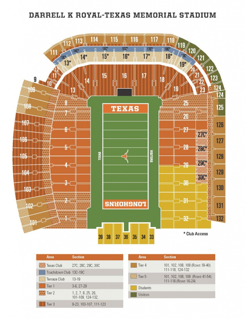 Football Season Ticket Renewals Launch With Continued Focus On Fan - University Of Texas Stadium Seating Map