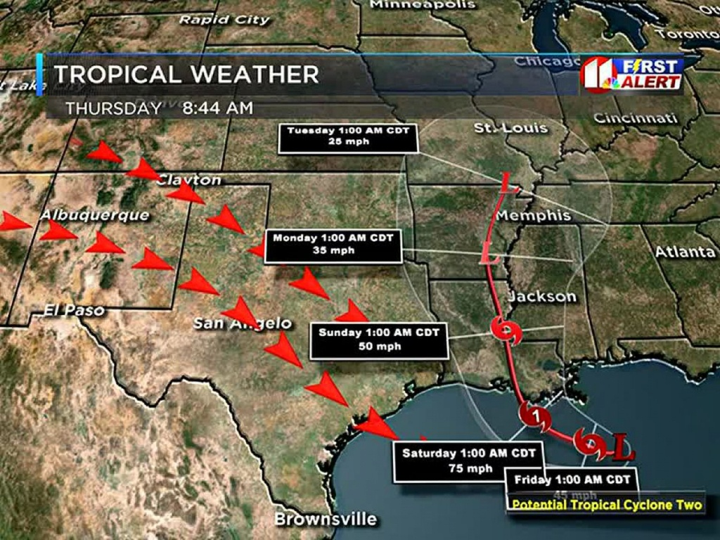Forecast - West Texas Weather Map