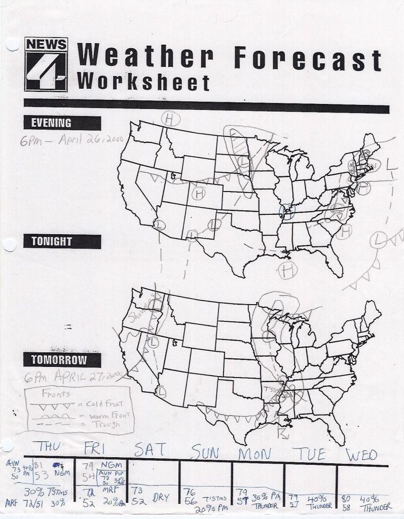 Forecasting Weather Map Worksheet 1 Answers - Yooob - Free Printable Weather Map Worksheets