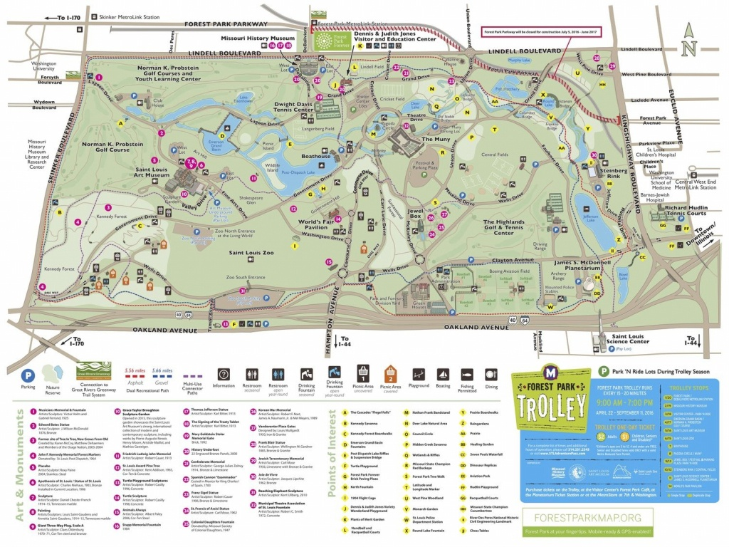 Forest Park Map (Click To Enlarge) | St. Louis Favorites | Forest - Forest Park St Louis Map Printable