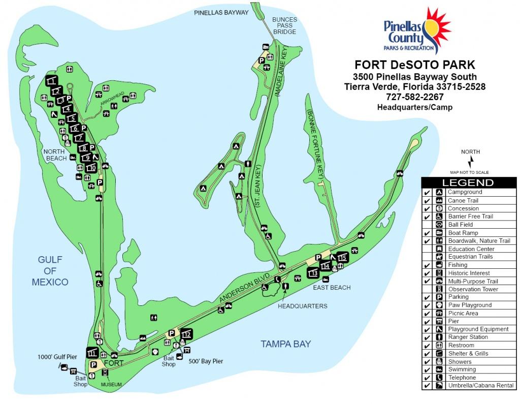 Fort De Sota Park Map - Tierra Verde Florida • Mappery - Terra Verde Florida Map