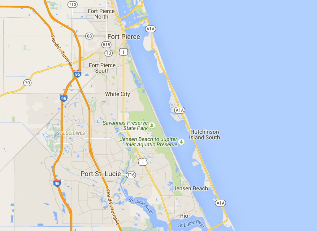 Fort Pierce To Jensen Beach: Scenic Road Through Old Florida - Hutchinson Island Florida Map