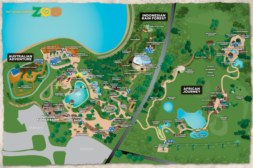 Fort Wayne Children's Zoo Interactive Map | All About K | Fort Wayne - Central Florida Zoo Map