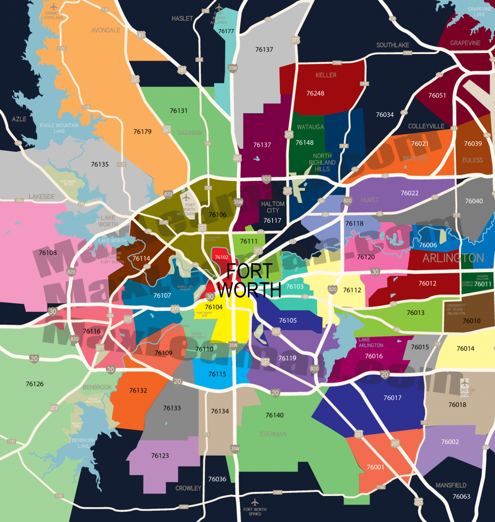 Fort Worth Zip Code Map ~ Afp Cv - Dallas Zip Code Map Printable