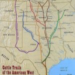 Found This 1870 Map Of The Cattle Trails Of The West | Cowboys Have   Texas Trails Maps