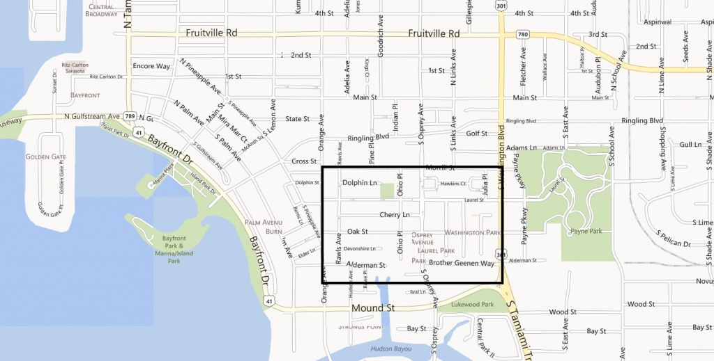 Four Walkable Neighborhoods In Sarasota - Map Of Sarasota Florida Neighborhoods