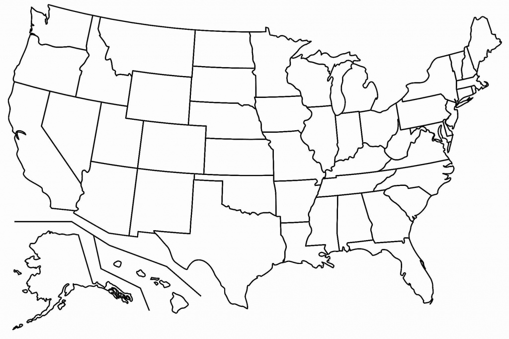 Free Blank Usa Map | Map Of Us Western States - Blank Printable Usa Map