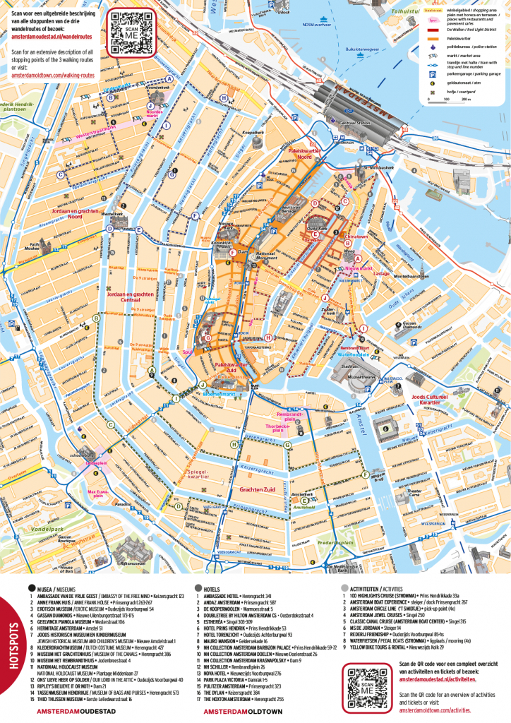 Free City Map Of Amsterdam Old Town - Printable Map Of Amsterdam City Centre