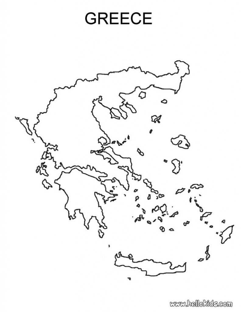 Free Coloring Maps For Kids | Greece Coloring Page | Ελλαδα Μου - Outline Map Of Greece Printable