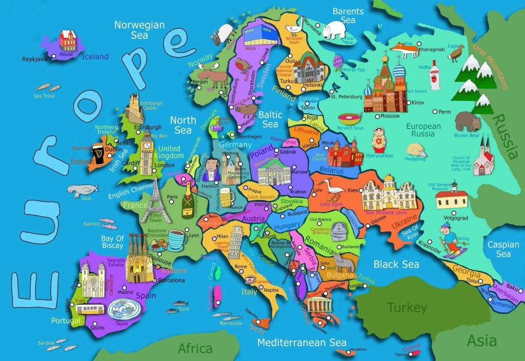 Free Country Maps For Kids A Ordable Printable World Map With - Printable Maps For Children