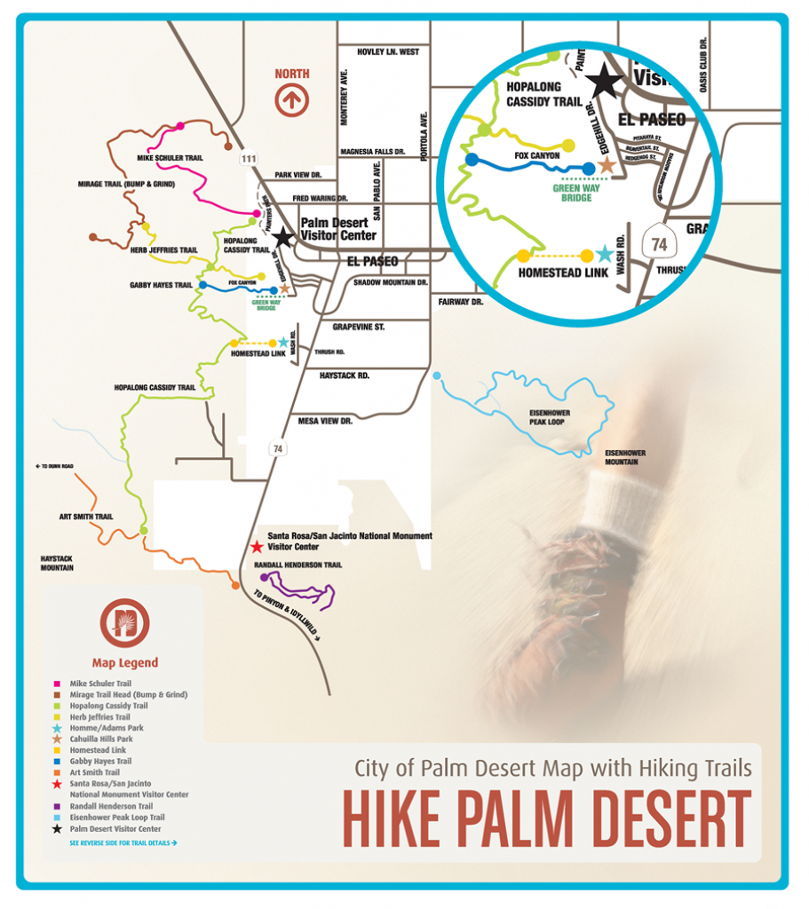 Free Hiking Maps For Palm Desert & Palm Springs | Bucket List - Where Is Palm Desert California Map