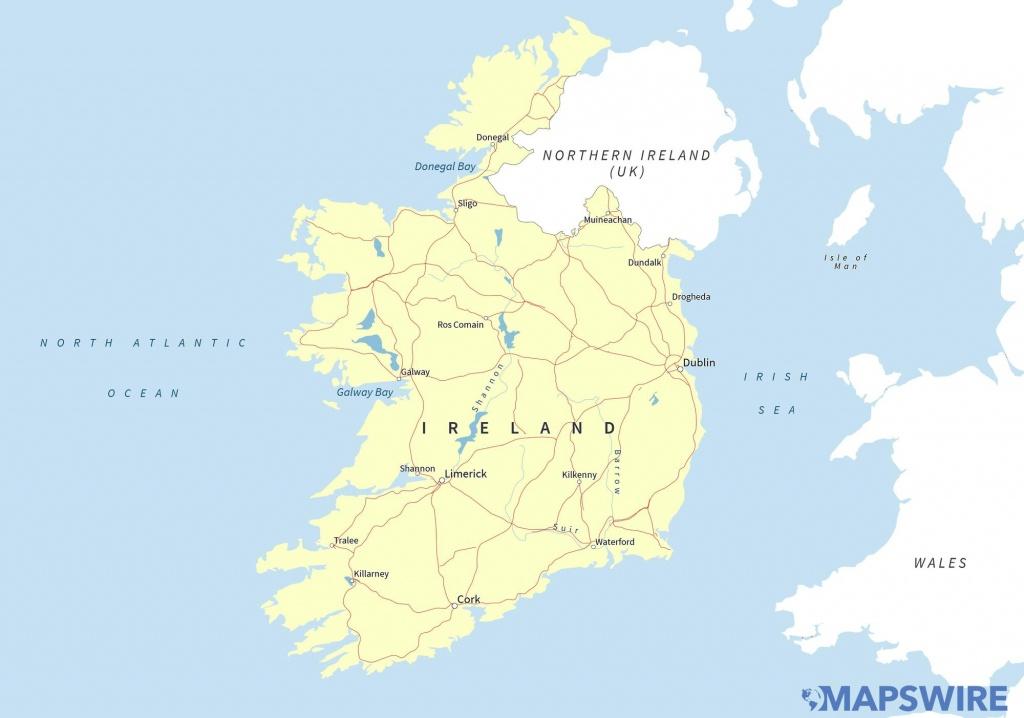 Free Maps Of Ireland – Mapswire - Printable Map Of Ireland