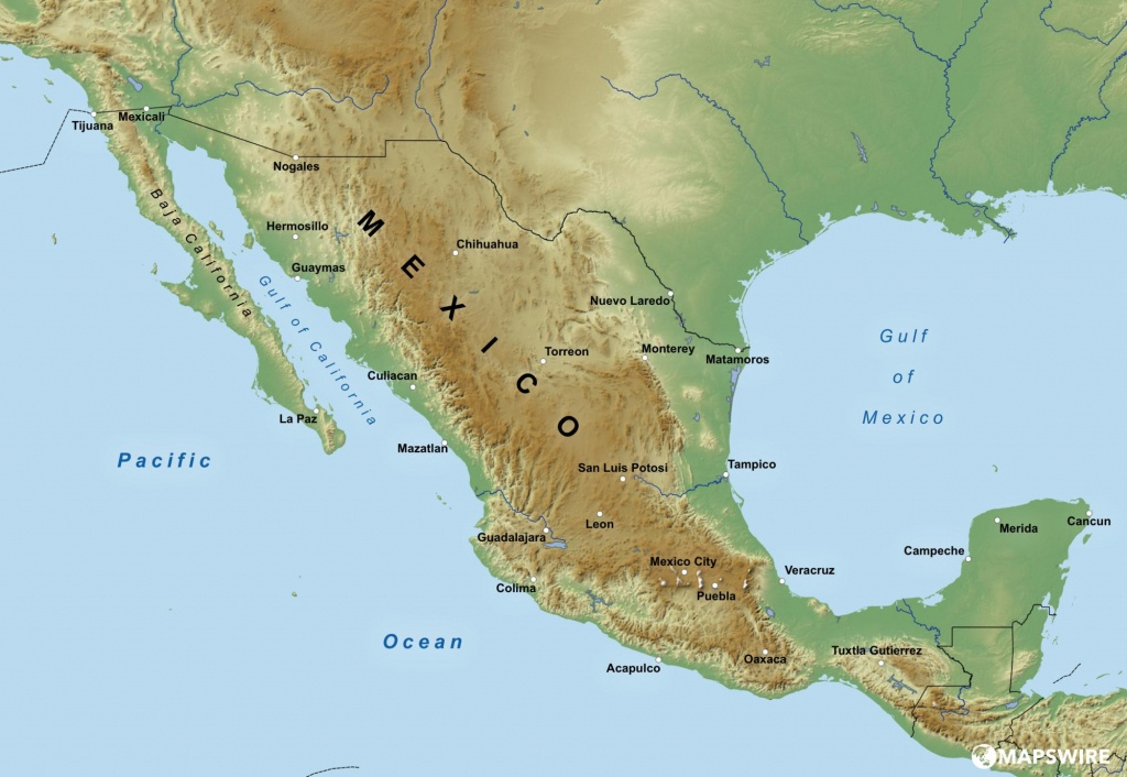 Free Maps Of Mexico – Mapswire - Free Printable Map Of Mexico