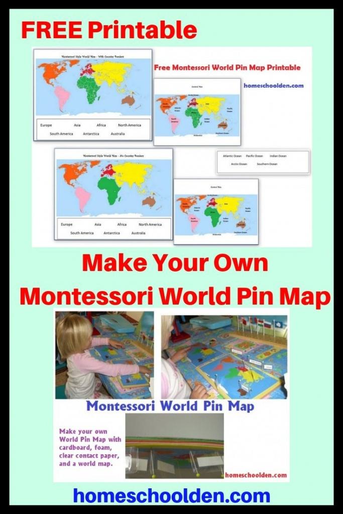 Free Montessori World Pin Map Printable - When My Kids Were Little - Montessori World Map Free Printable