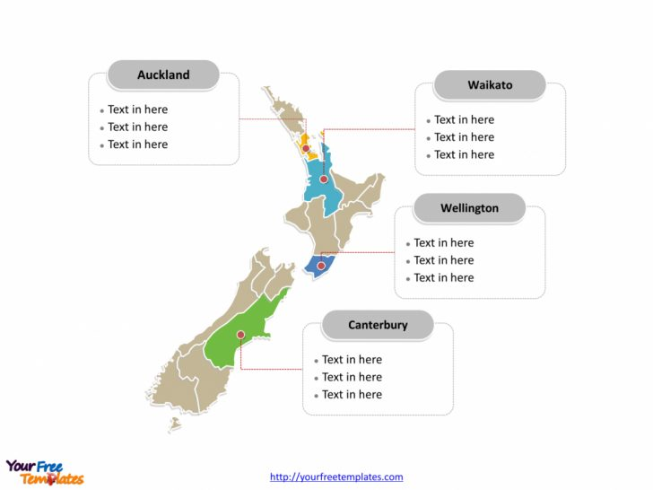 Outline Map Of New Zealand Printable