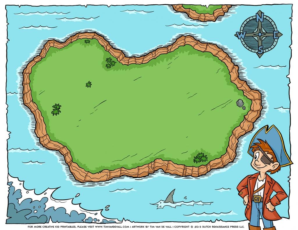 Free Pirate Treasure Maps For A Pirate Birthday Party Treasure Hunt - Printable Kids Pirate Treasure Map