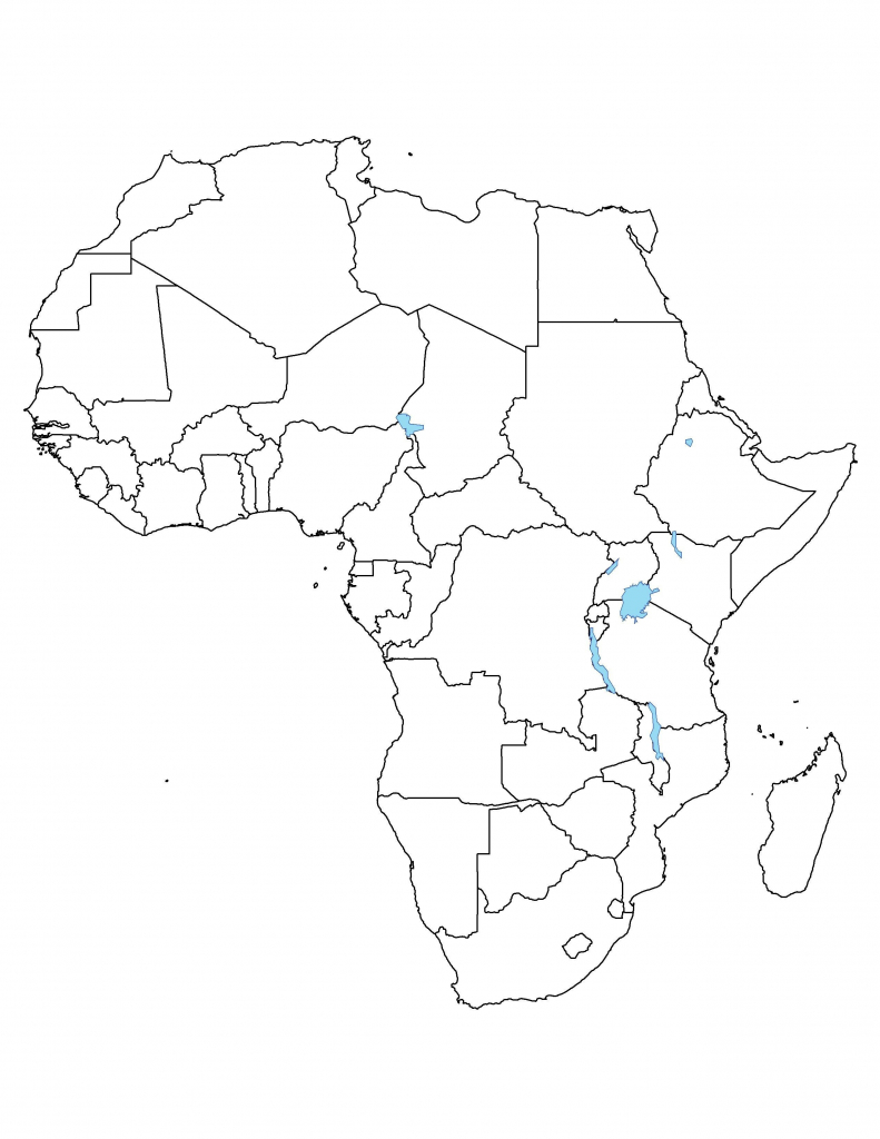 Free Printable Africa Map - Maplewebandpc - Blank Outline Map Of Africa Printable