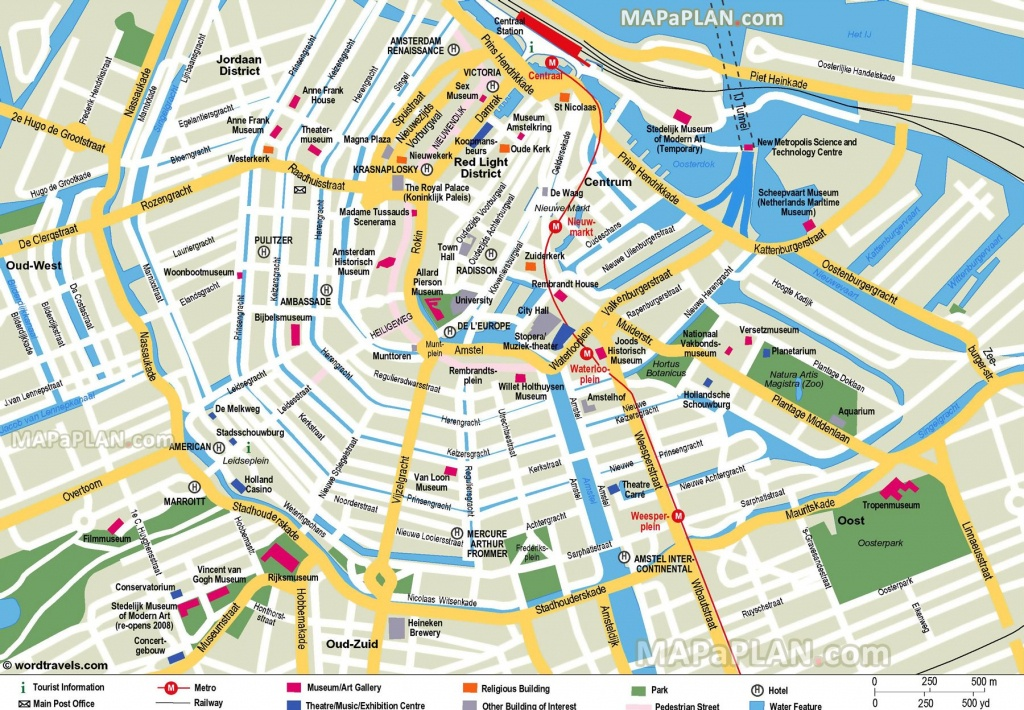 Free Printable Map Of Amsterdam - Google Search   Earth/environment - Printable Tourist Map Of Amsterdam