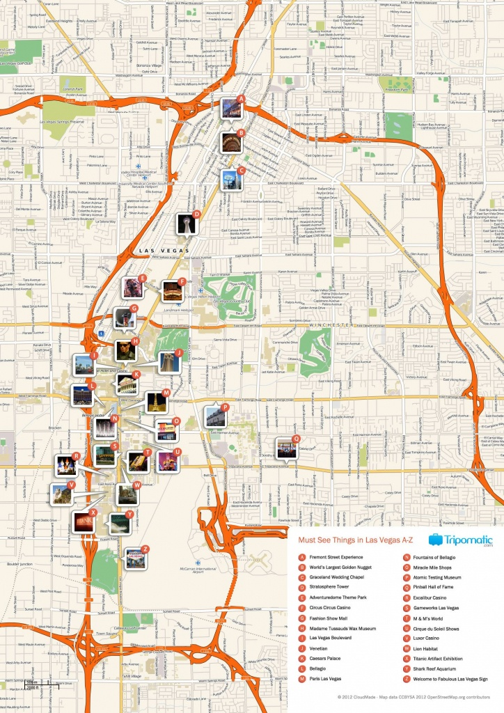 Free Printable Map Of Las Vegas Attractions. | Free Tourist Maps - Las Vegas Printable Map