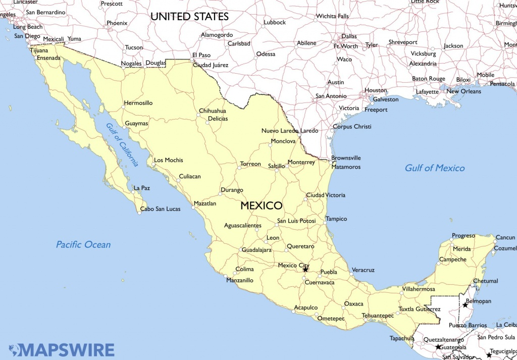 Free Printable Map Of Mexico A Printable Map Of Mexico Labeled With - Free Printable Map Of Mexico