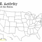Free Printable Map Of The United States | D1Softball   Free Printable Blank Map Of The United States