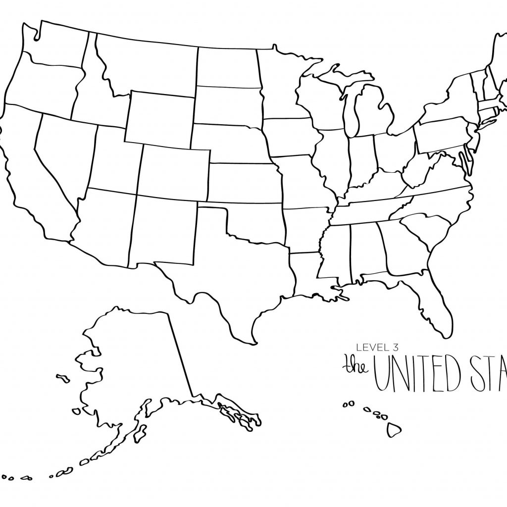 Free Printable Map Of Usa The United States Save Blank - Free Printable Map Of The United States