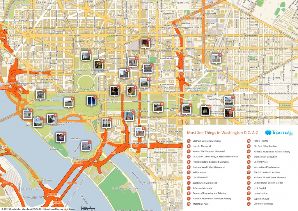 Free Printable Map Of Washington D.c. Attractions. | Washington Dc - Printable Street Map Of Washington Dc