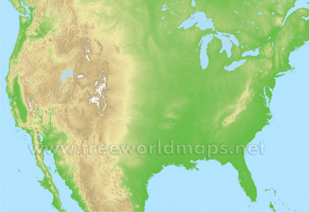 Free Printable Maps Of The United States - Physical Map Of The United States Printable