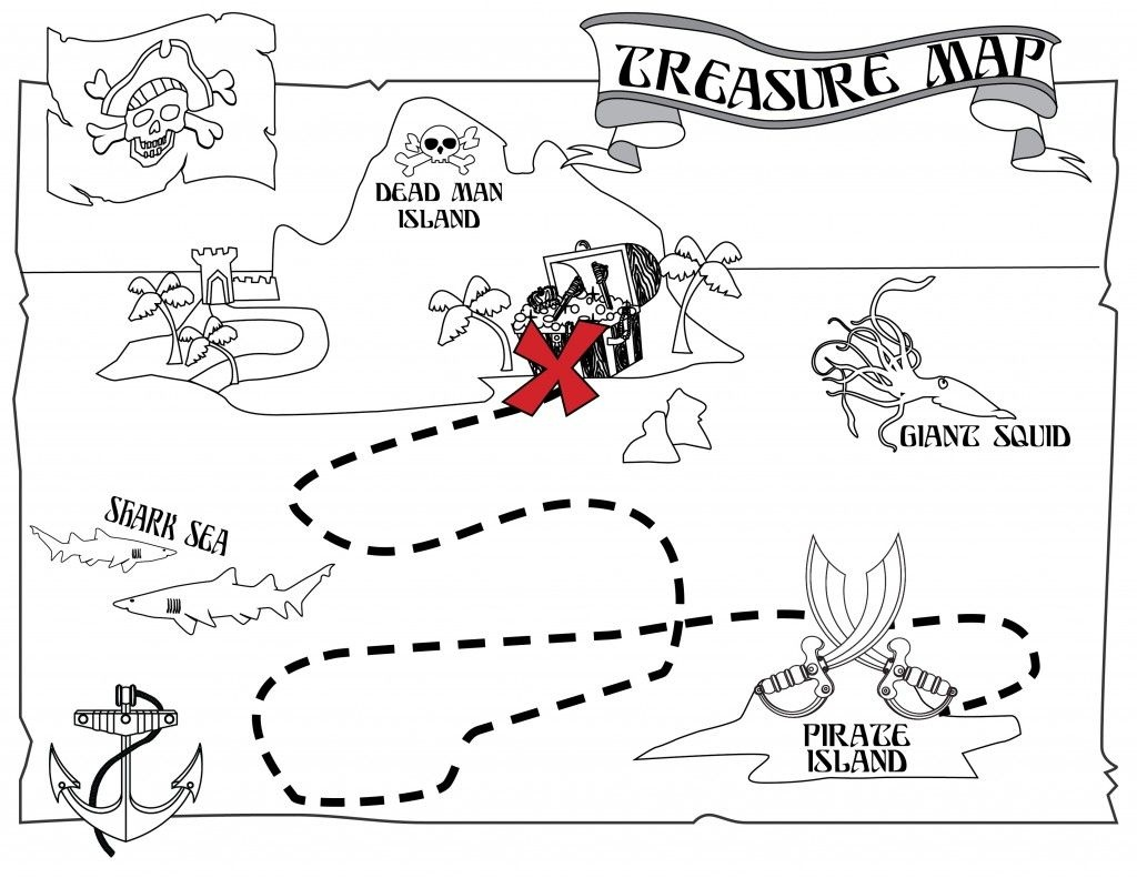 Free Printable Pirate Coloring Pages For Kids   Jake And The Never - Printable Treasure Maps For Kids
