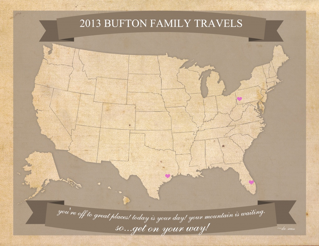 Free Printable United States Travel Map New Make A Of My Trip - Make A Printable Map