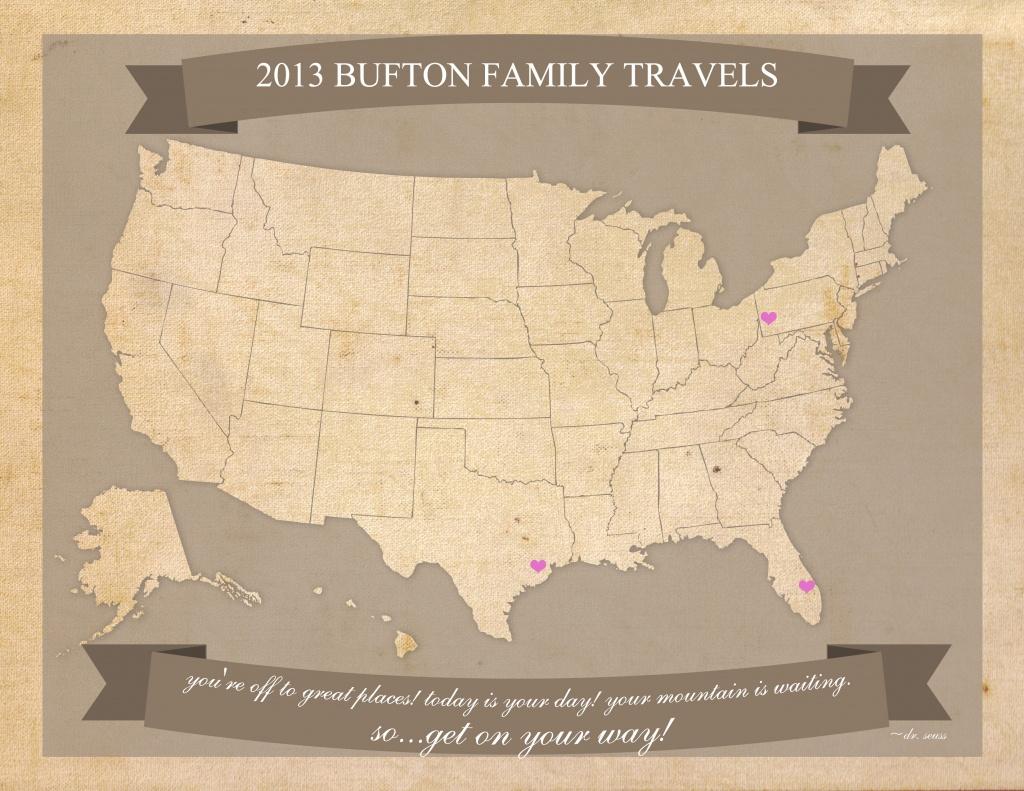 Free Printable United States Travel Map - United States Travel Map Printable
