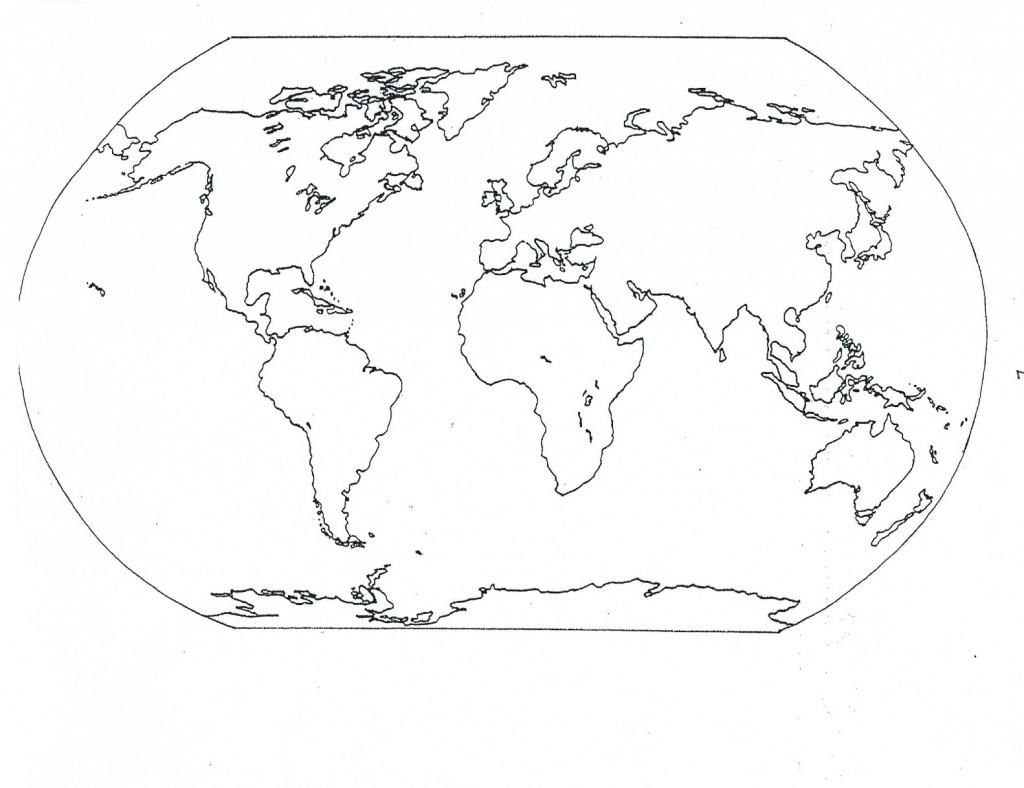 Free Printable World Map Coloring Pages For Kids - Best Coloring - Map Of The World To Color Free Printable
