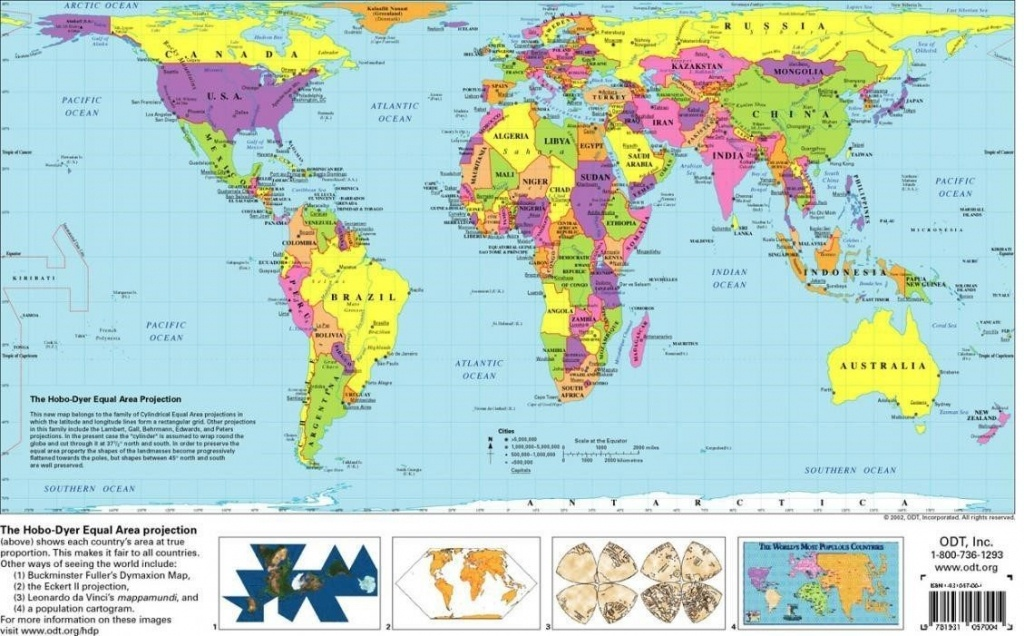 Free Printable World Map | D1Softball - Free Printable World Map