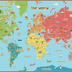Free Printable World Map For Kids Maps And | Vipkid | World Map Wall   Free Printable World Map