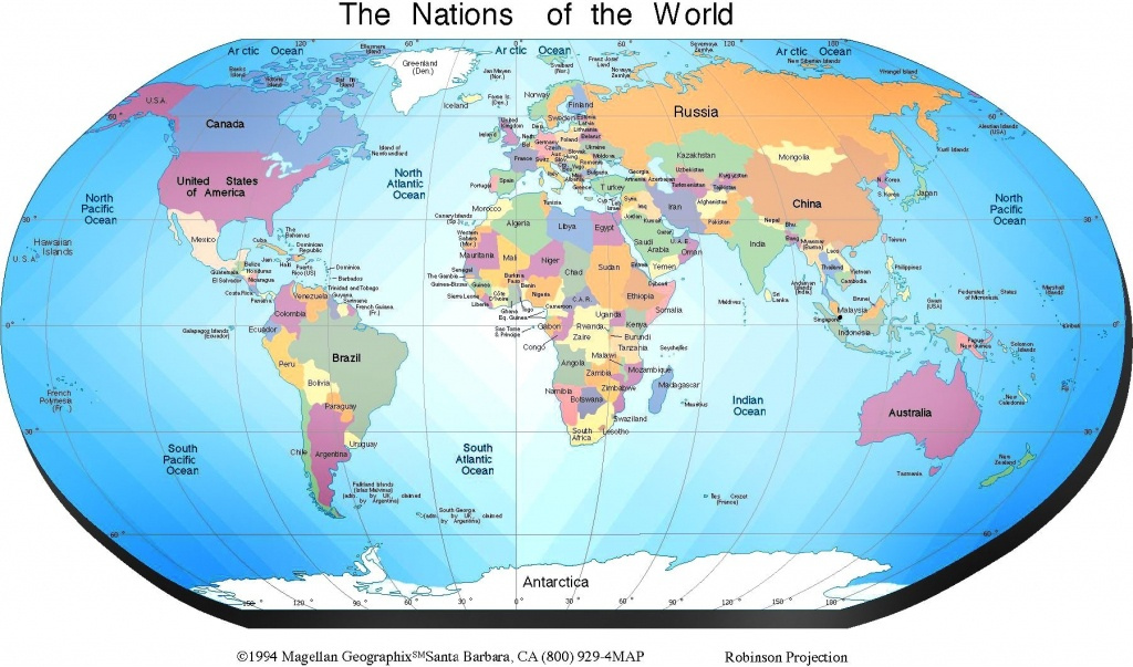 Free Printable World Map With Countries Labeled Show Me A Us For The - Free Printable World Map With Countries Labeled