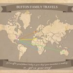 Free Printable World Travel Map   Printable Travel Map