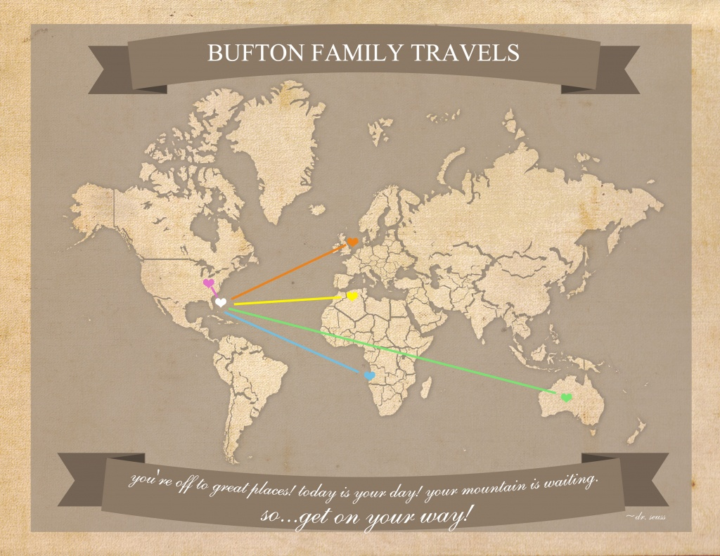 Free Printable World Travel Map - Printable Travel Map