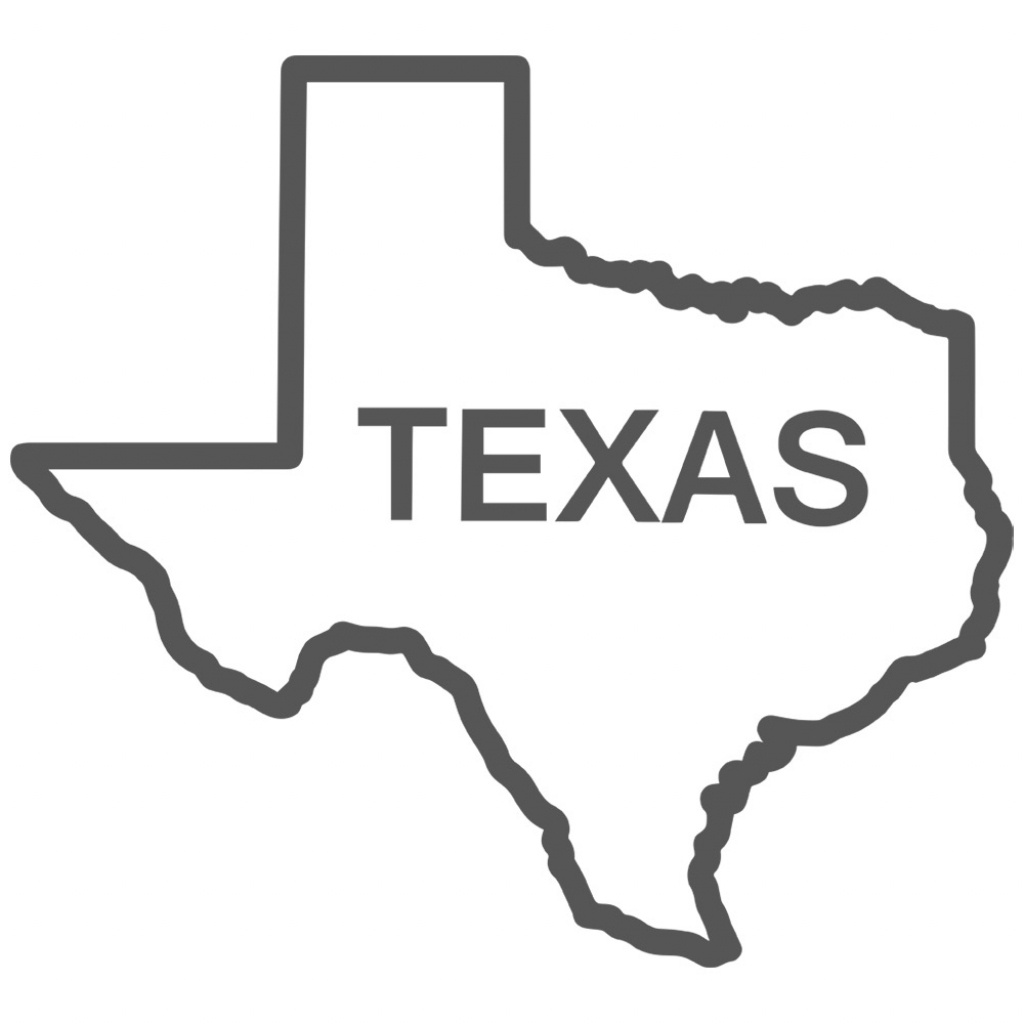 Free Texas Outline, Download Free Clip Art, Free Clip Art On Clipart - Texas Map Outline Printable