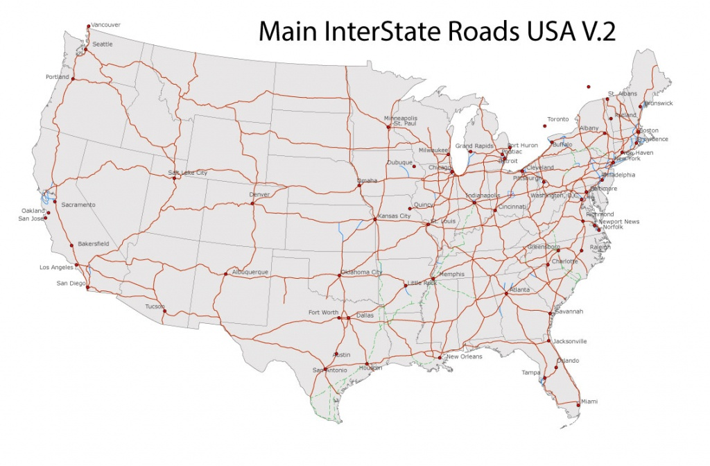 Free United States Road Map And Travel Information | Download Free - Free Printable Road Maps