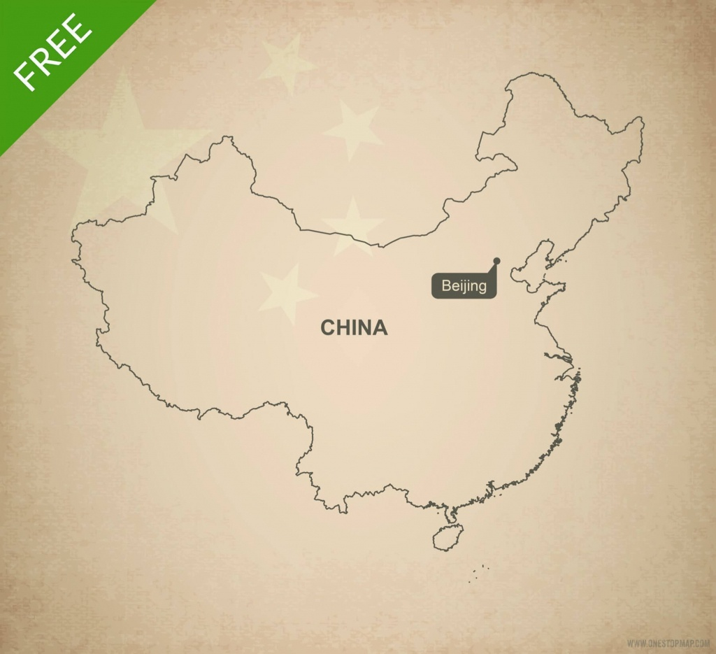 Free Vector Map Of China Outline | One Stop Map - Free Printable Map Of China