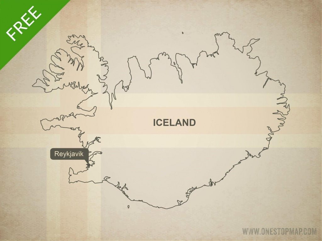Free Vector Map Of Iceland Outline   One Stop Map - Free Printable Map Of Iceland
