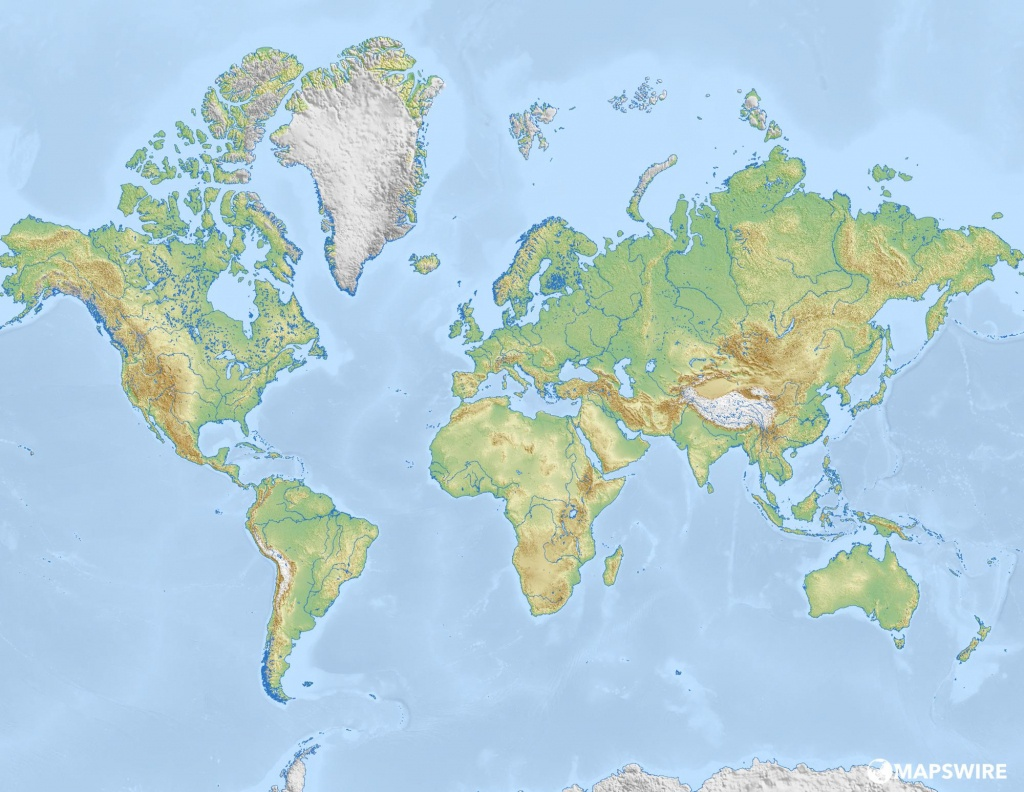 Free World Maps And Other Maps – Mapswire - Blank Physical World Map Printable