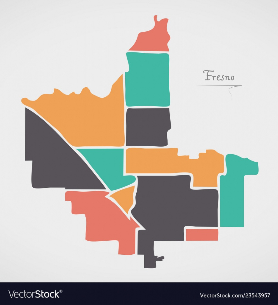 Fresno California Map With Neighborhoods And - Fresno California Map