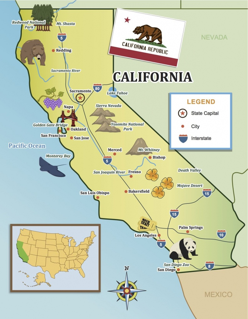 From The Golden Gate To The Beaches Of Socal, Show Your Kids - California Missions Map For Kids