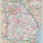 Ga Road Maps And Travel Information | Download Free Ga Road Maps   Georgia Road Map Printable