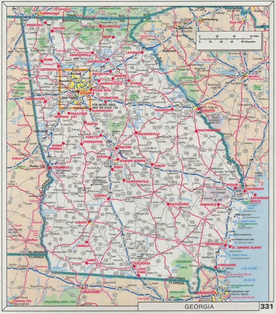 Ga Road Maps And Travel Information   Download Free Ga Road Maps - Georgia Road Map Printable