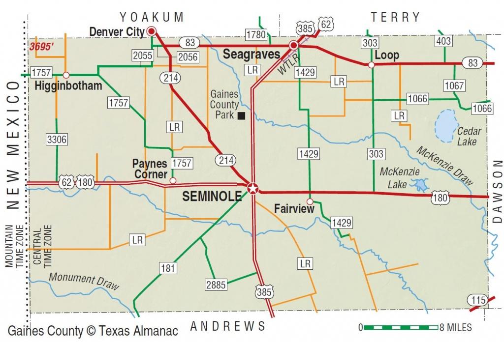 Gaines County | The Handbook Of Texas Online| Texas State Historical - Gaines County Texas Section Map