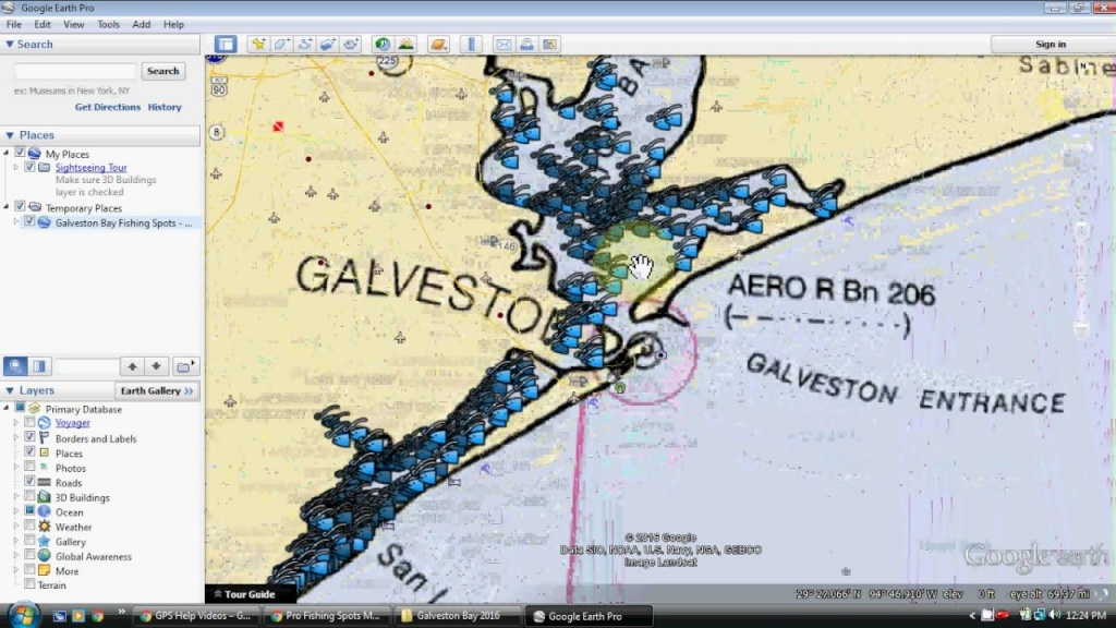 Galveston Bay Fishing Map - Youtube - Texas Fishing Maps Free